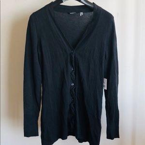 NWT Tahari Black Cotton Cardigan